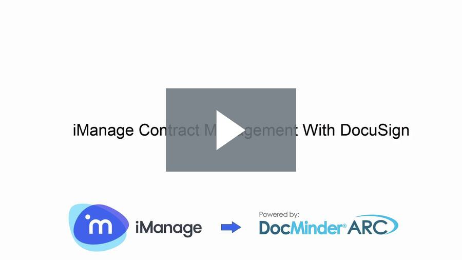 IManage Contract Management with DocuSign