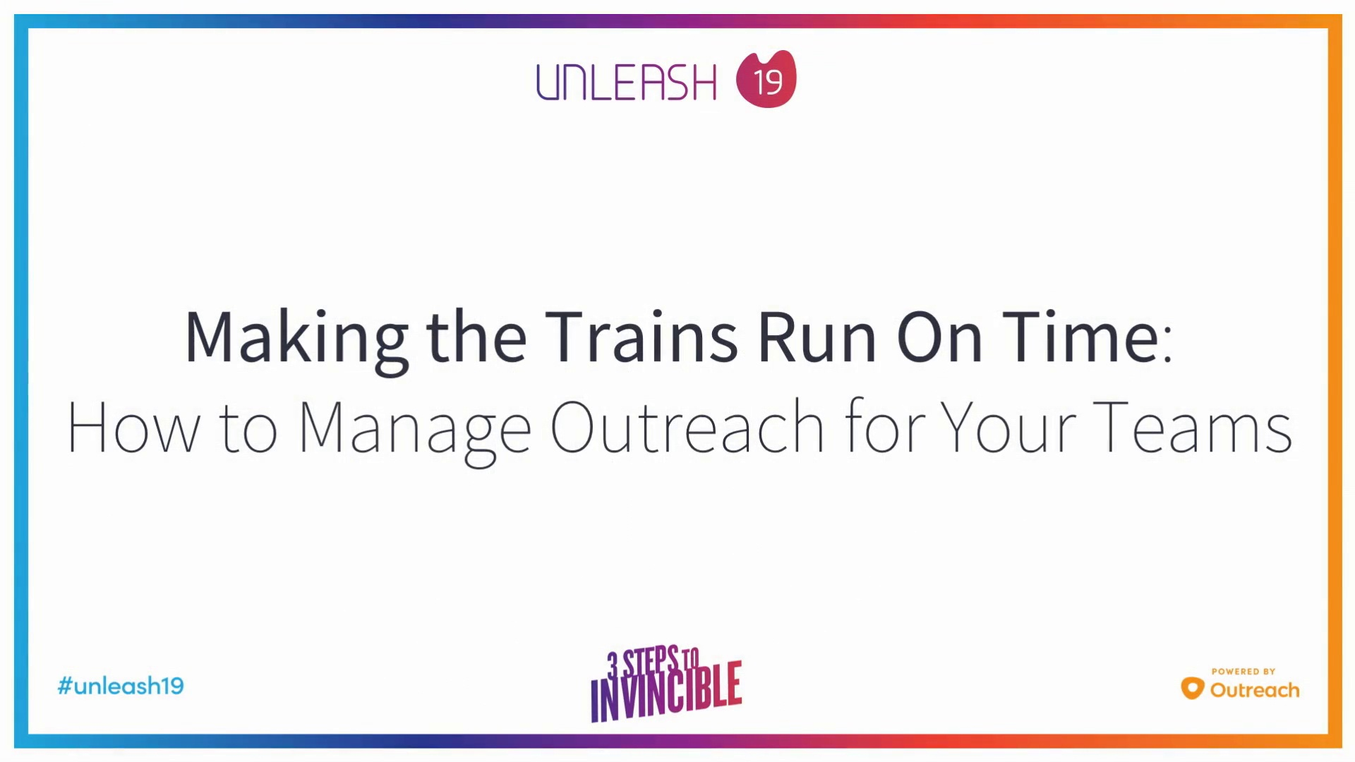 Making the Trains Run On Time, How to Manage Outreach for Your Teams - Jerry Pharr, Amanda Lim, Emily Blau