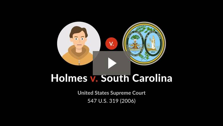 Holmes v. South Carolina