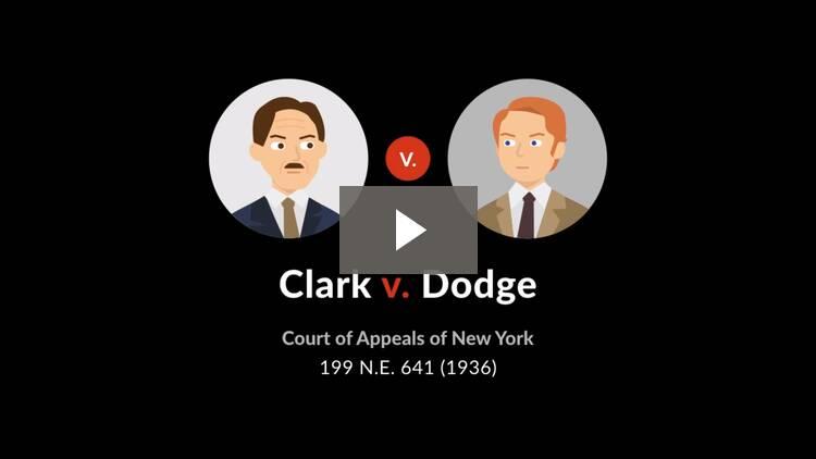 Clark v. Dodge