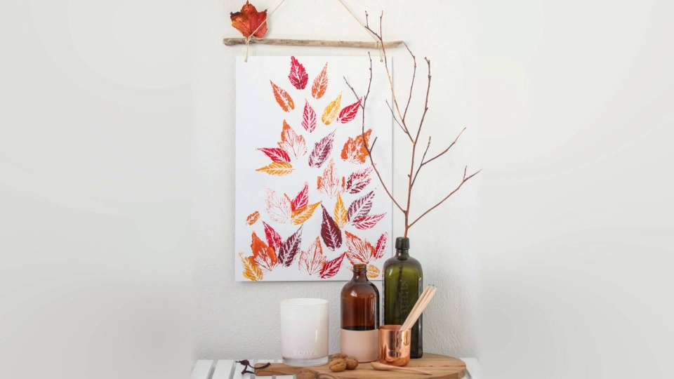 Habitat TV Video: Create your own autumn leaf print