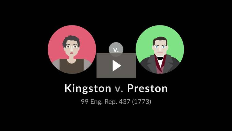 Kingston v. Preston