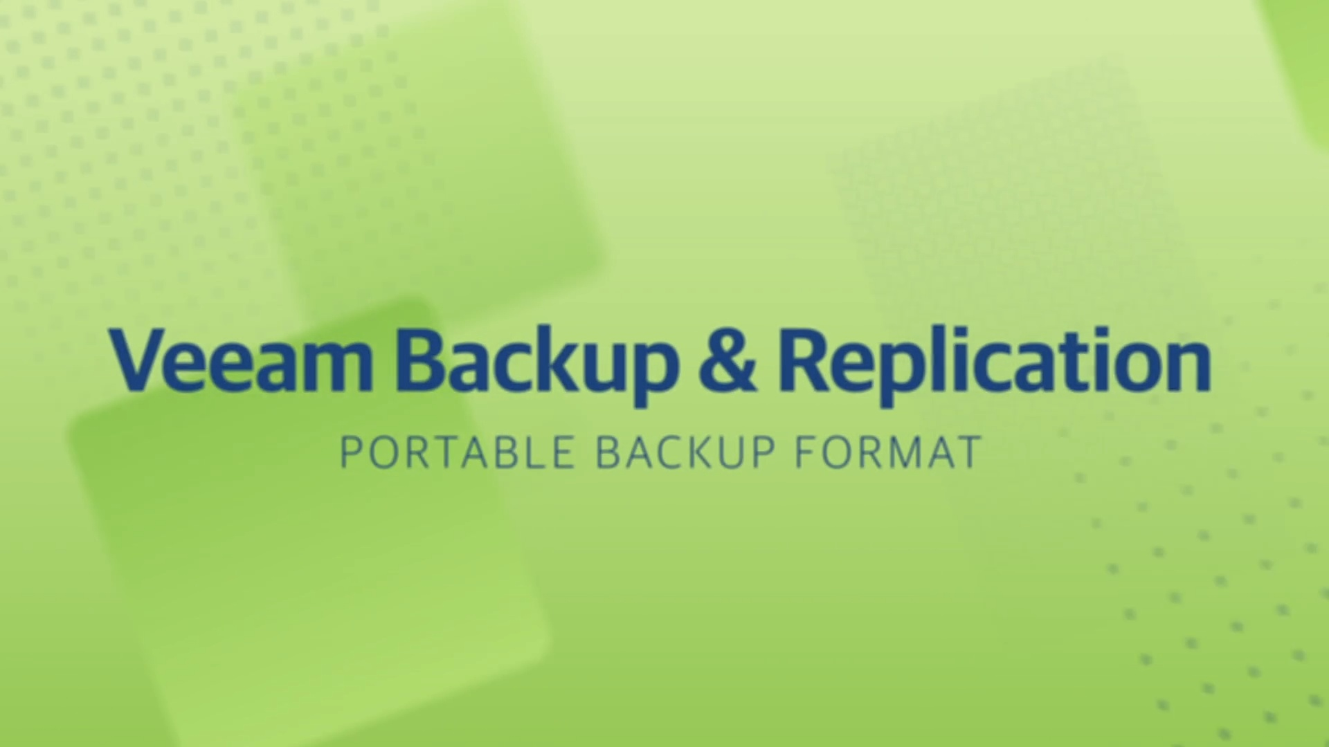 Product launch v11 - VBR - Portable Backup Format