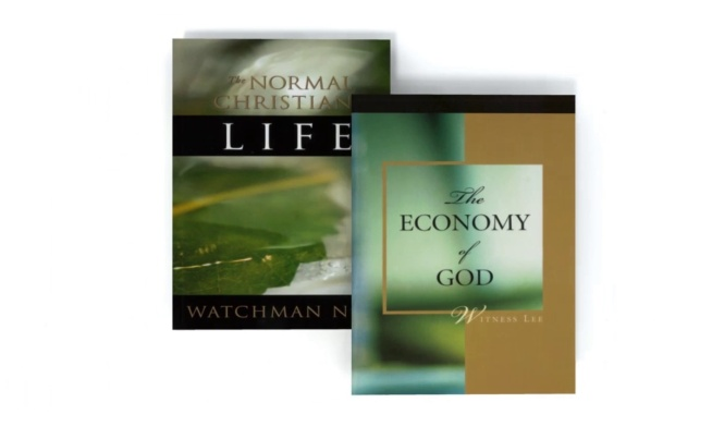 "Introducing ""The Normal Christian Life"" & ""The Economy of God"""