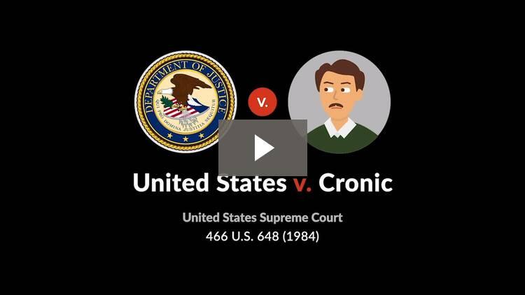 United States v. Cronic