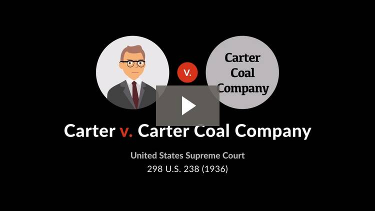 Carter v. Carter Coal Co.