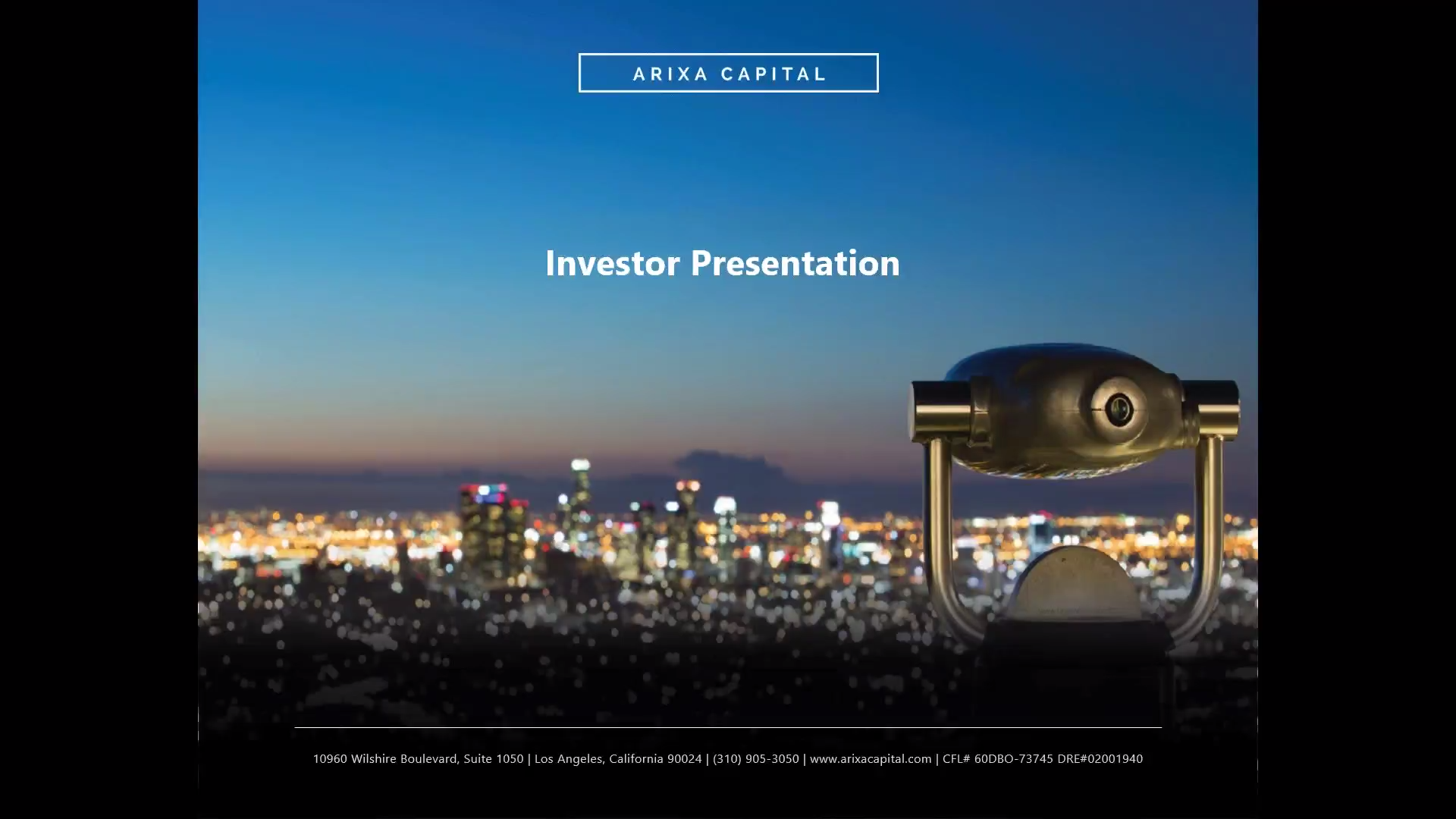 Investment Video - Arixa Enhanced Income Fund