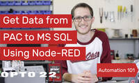 Node-RED: Get Data from PAC to MS SQL