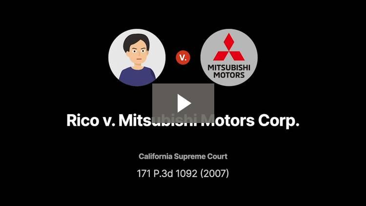 Rico v. Mitsubishi Motors Corp.