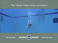 'No Touch' Laser Vision Correction Swim Video