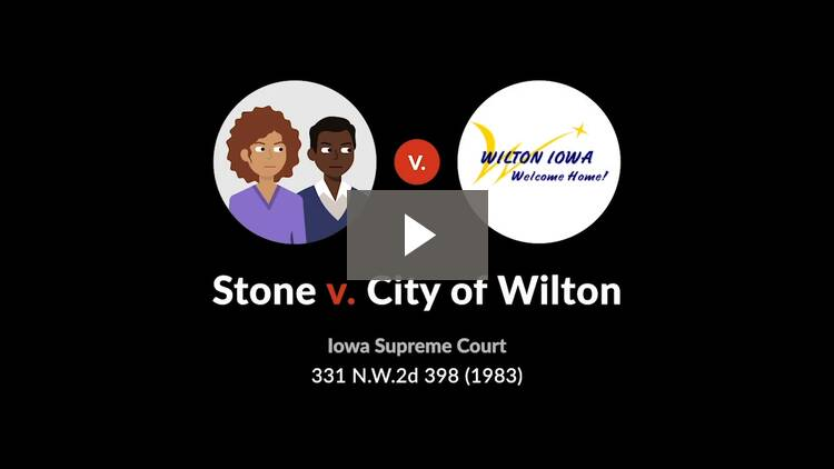 Stone v. City of Wilton