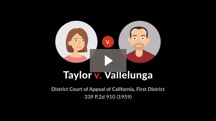 Taylor v. Vallelunga