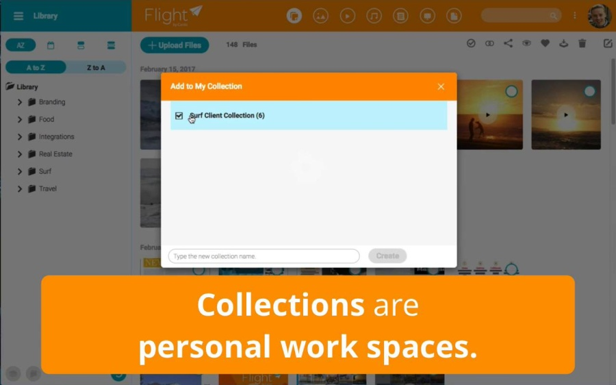 How to set up your own private collection of assets in Flight by Canto