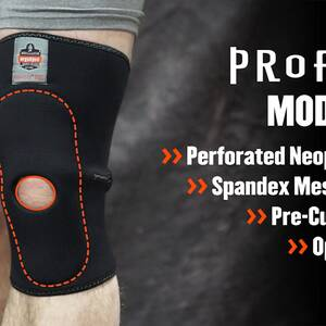 Ergodyne Product Video - ProFlex<sup>®</sup> 615 Knee Sleeve w/Open Patella/Anterior Pad