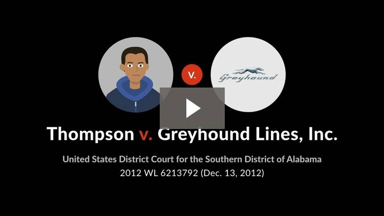 Thompson v. Greyhound Lines, Inc.