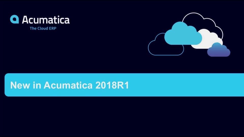 New in Acumatica 2018R1