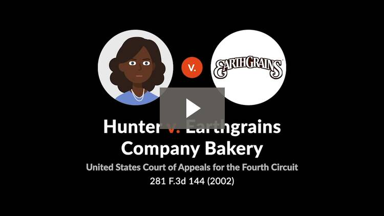 Hunter v. Earthgrains Co. Bakery