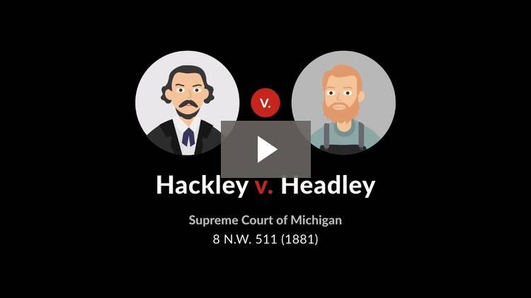 Hackley v. Headley