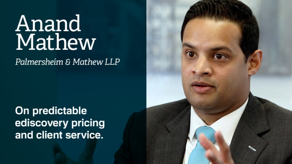 Anand Mathew on Nextpoint Predictable eDiscovery Pricing