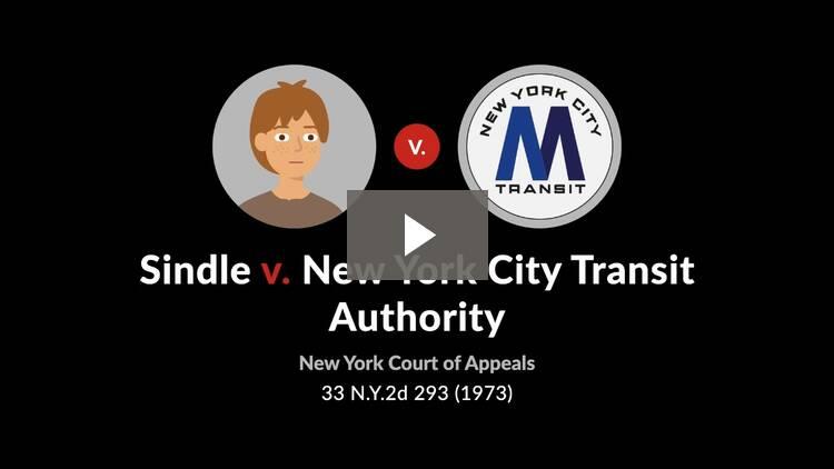 Sindle v. New York City Transit Authority
