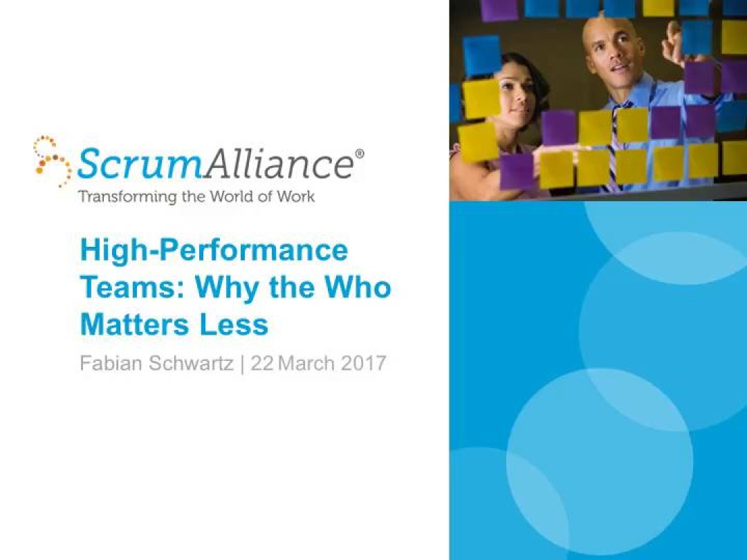 High-Performance Teams: Why the Who Matters Less