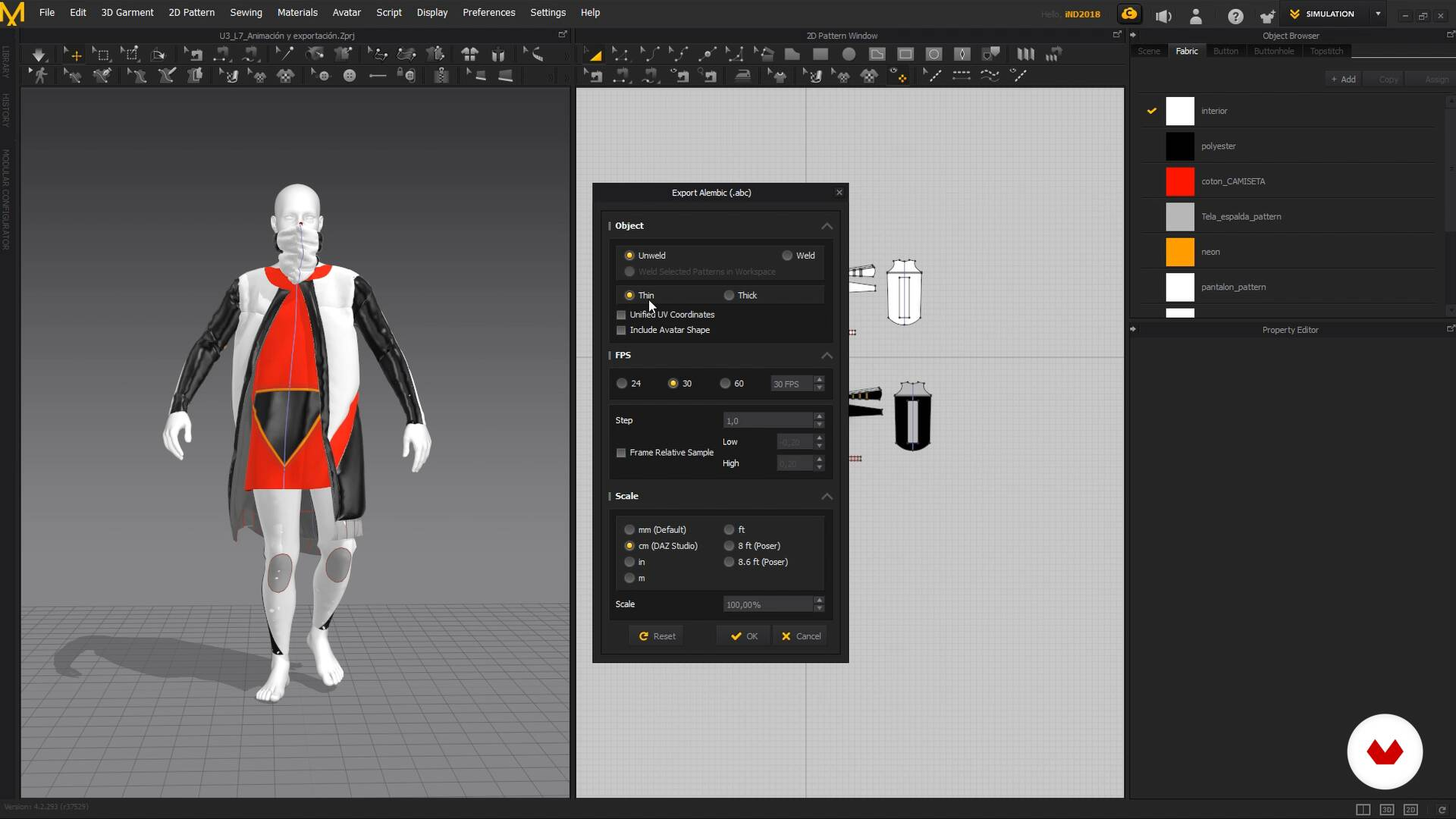 Animation And Export Clothing Design With Marvelous Designer Bernatinmotion Domestika