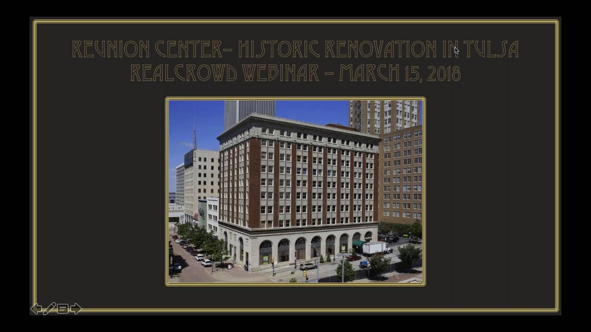 Investment Video - Reunion Center - Historic Renovation in Tulsa