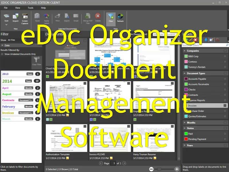 eDoc Organizer Document Management Software Digitial Filing