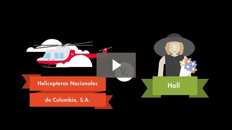 Helicopteros Nacionales de Colombia, S.A. v. Hall