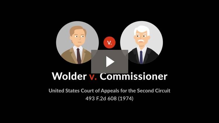 Wolder v. Commissioner