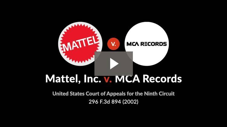 Mattel, Inc. v. MCA Records