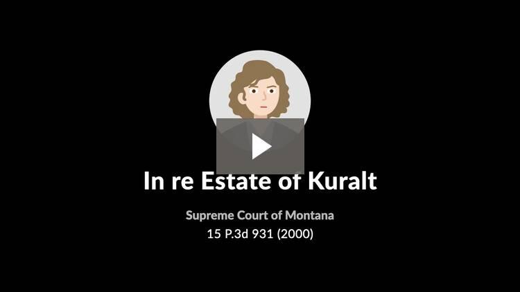 In re Estate of Kuralt