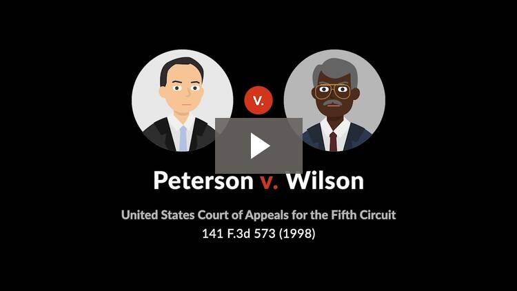 Peterson v. Wilson