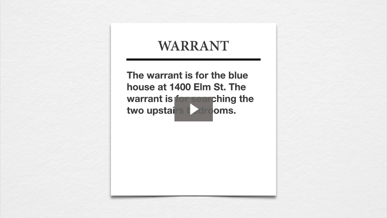 Warrants II