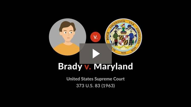 Brady v. Maryland