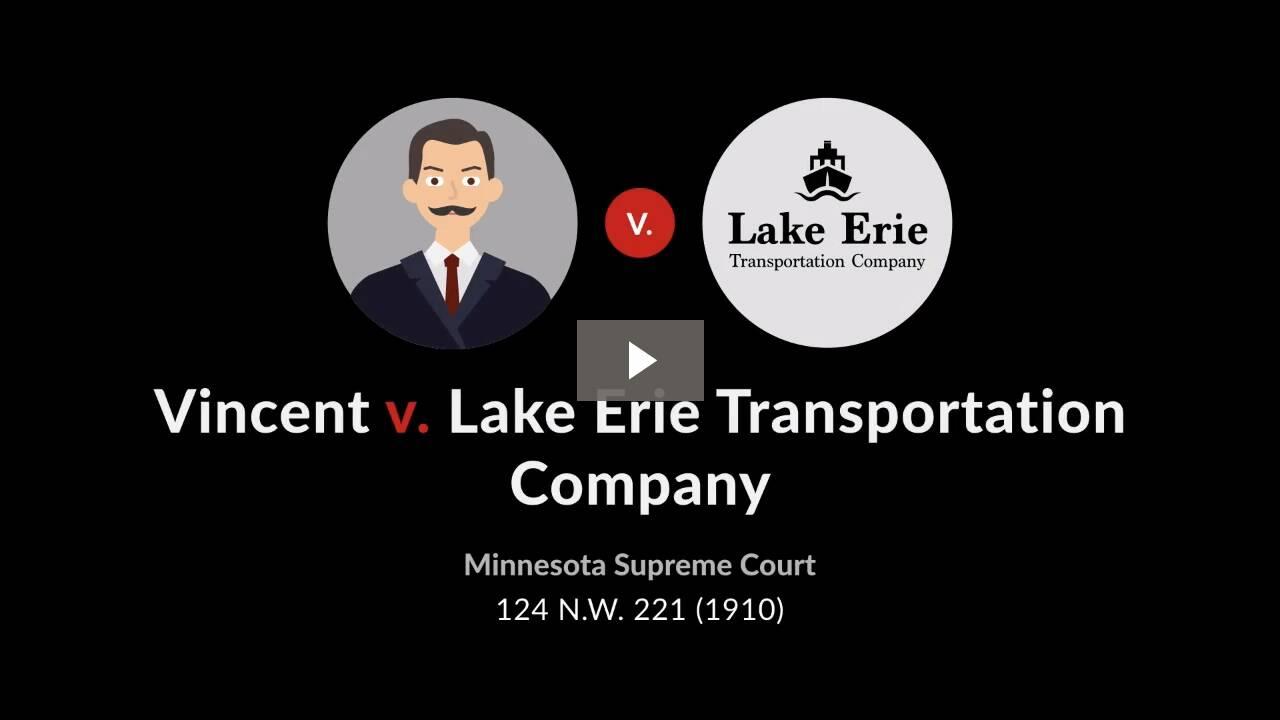 Vincent v. Lake Erie Transportation Co.