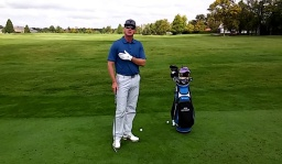 Execute a Full Swing with Ball Above Your Feet