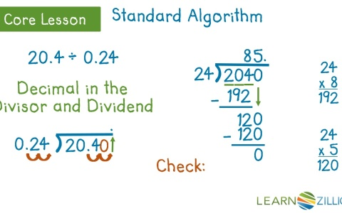 Divide multi-digit decimals using the standard algorithm
