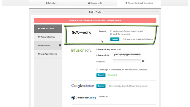 Enabling Gotomeeting Appointmentcore Help Center