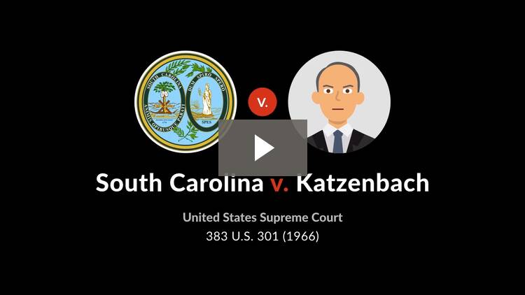 South Carolina v. Katzenbach