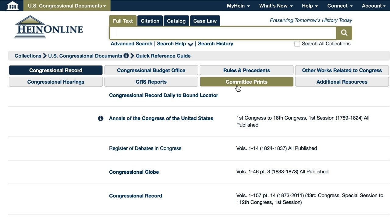Touring the U.S. Congressional Documents Homepage thumbnail