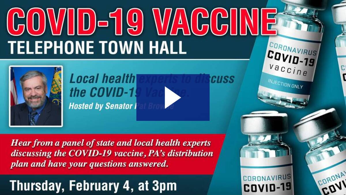 2/4/21 - COVID-19 Vaccine Telephone Town Hall