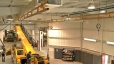Ceiling Mounted Monorail Fall Protection System - Fit & Finish Application