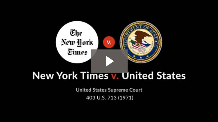 New York Times Co. v. United States