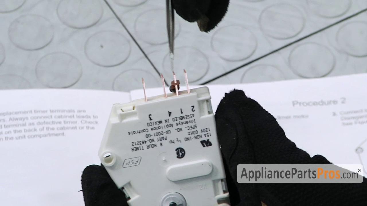 482493 Defrost Timer Wiring Diagram Detailed Schematics With Ladder Whirlpool W10822278 Appliancepartspros Com Freezer