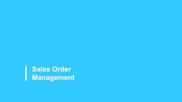 Sales Order Management