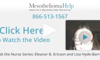 How is mesothelioma different from lung cancer from smoking?