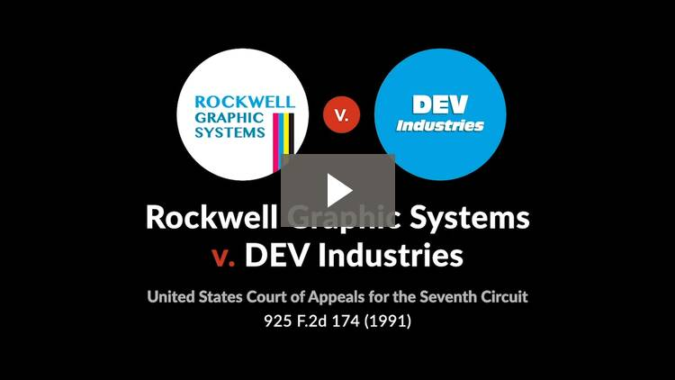 Rockwell Graphic Systems, Inc. v. DEV Industries, Inc.