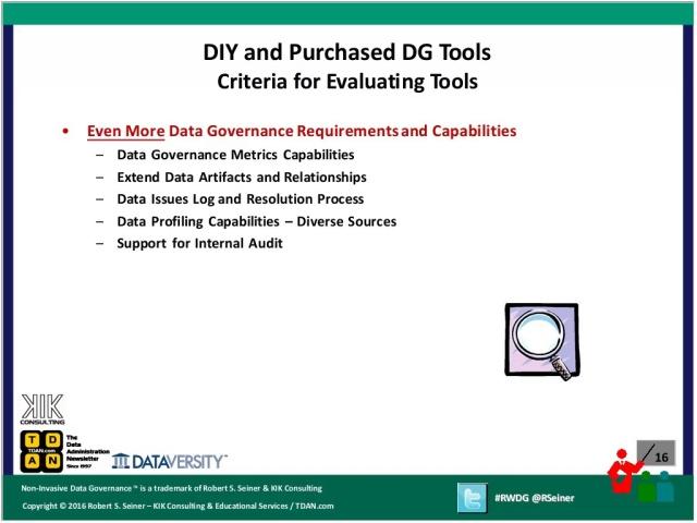 rwdg webinar: diy and purchased data governance tools - dataversity