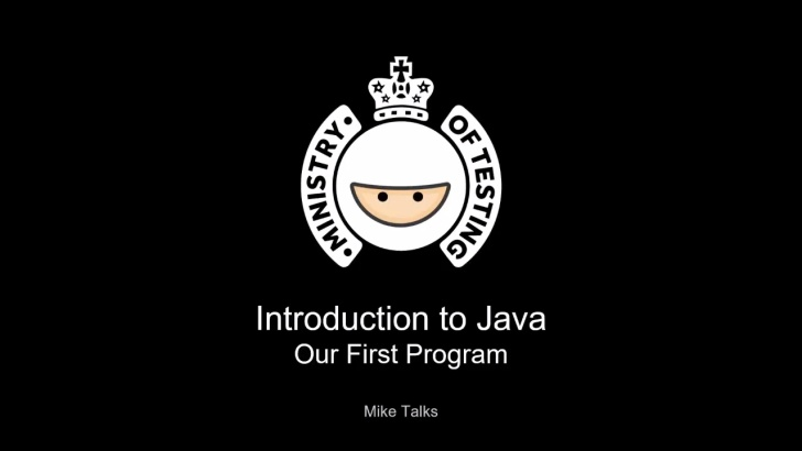 Our First Program